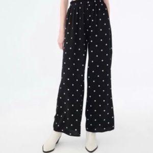 AEROPOSTALE Black/White Polka Dot Wide Leg Pants